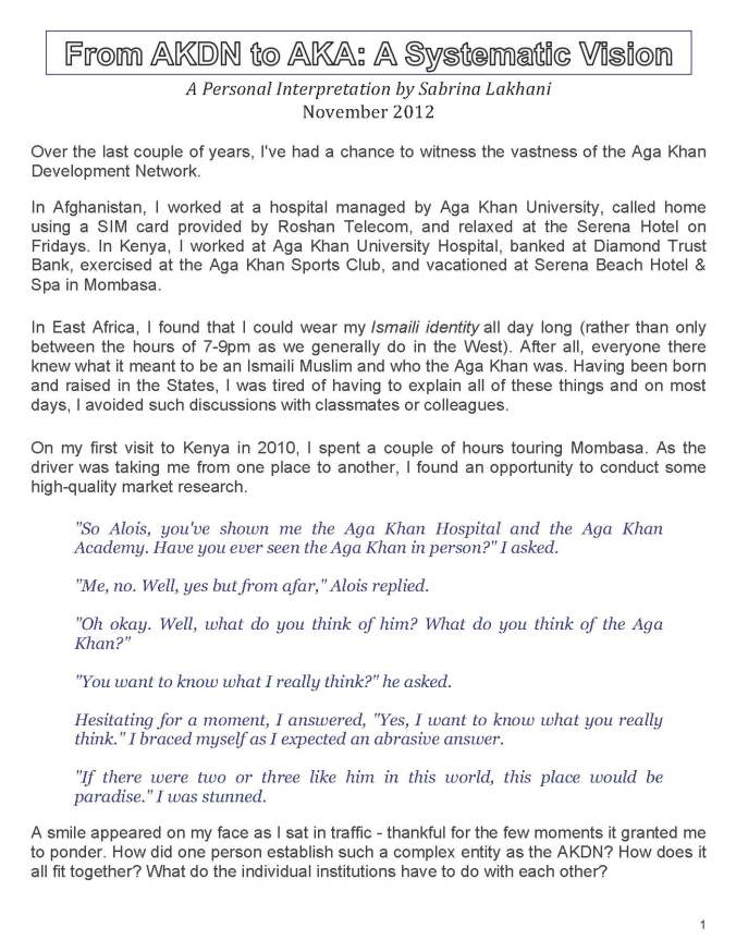 Page1 from From AKDN to AKA - A Systematic Vision - Updated January 20, 2013